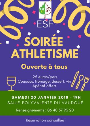 Soirée ESF77 - Athétisme