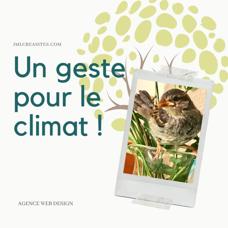 Un geste pour le climat